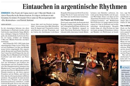 Eintauchen in argentinische Rhythmen