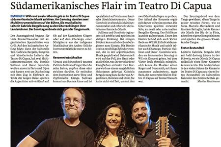 Südamerikanisches Flair im Teatro Di Capua